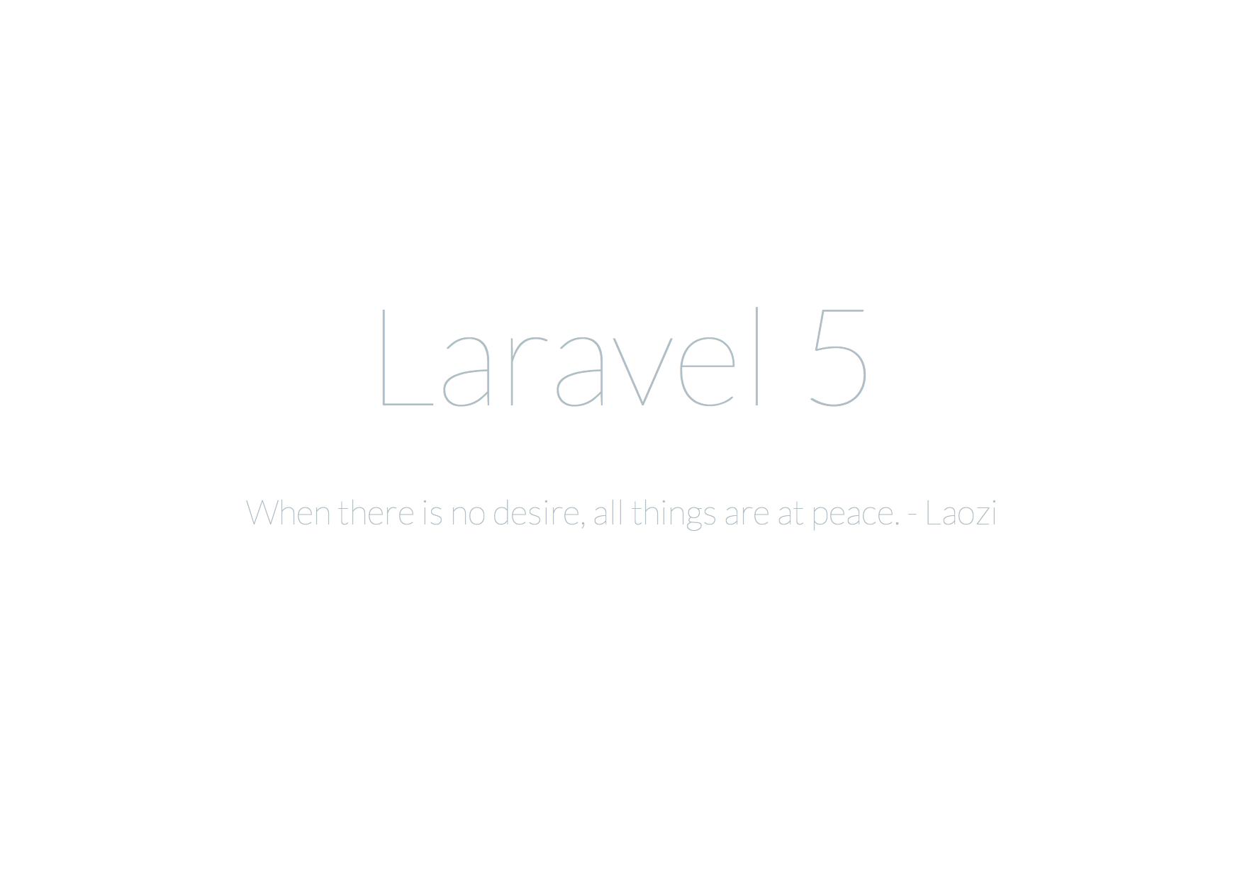 Laravel Start Screen