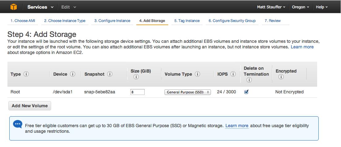 AWS Add Storage