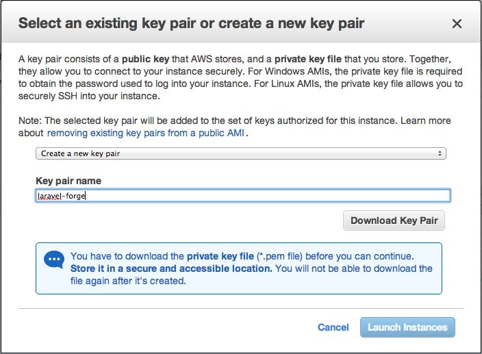 AWS Key Pairs