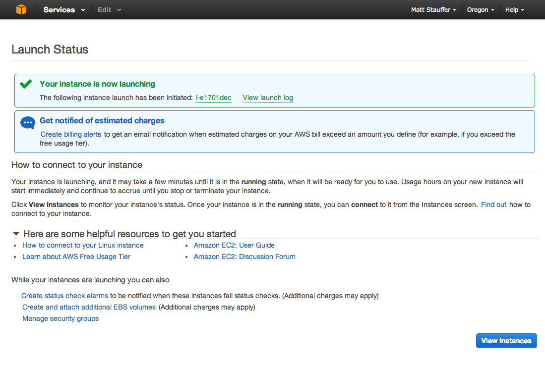 AWS Site Launched