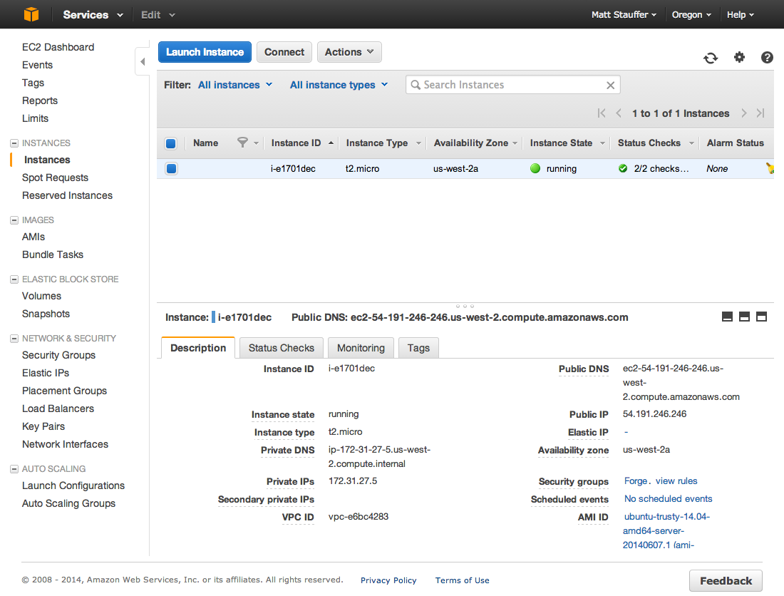AWS View Instance