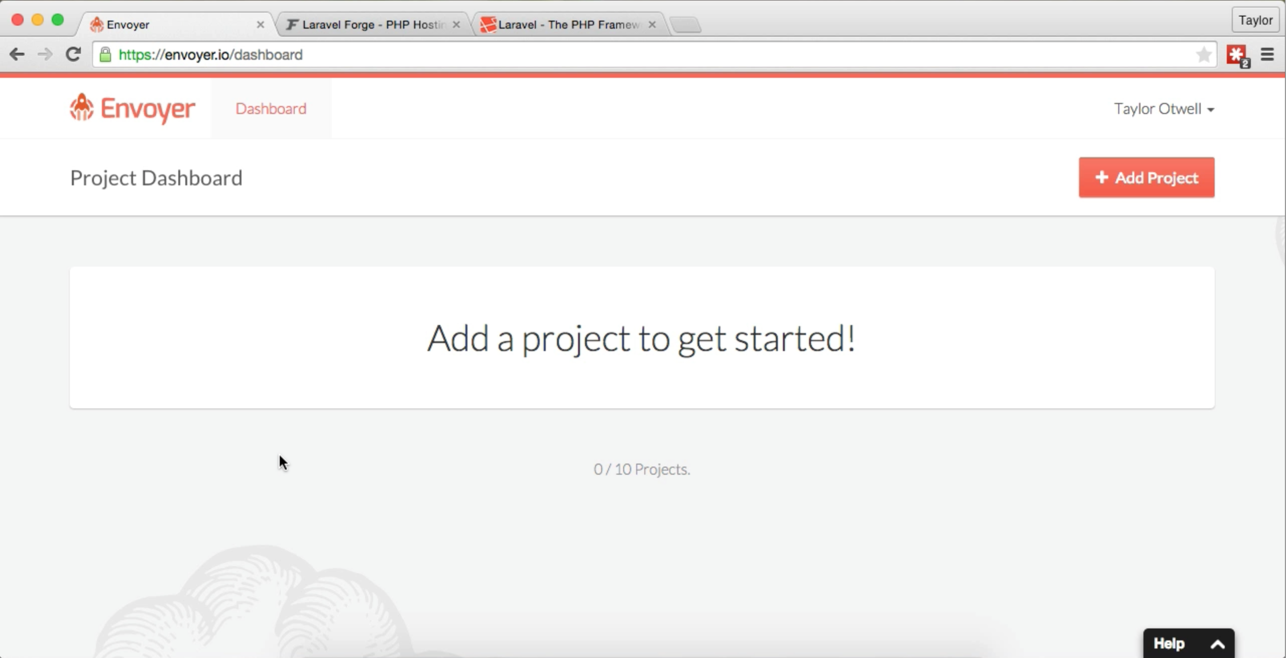 - envoyer screenshot 01 - Introducing Envoyer.io | MattStauffer.com