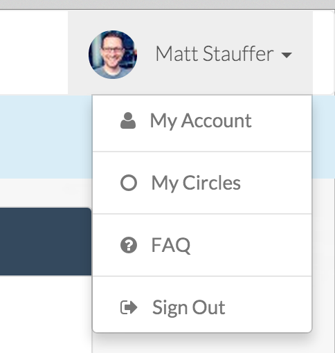 Forge My Circles Dropdown