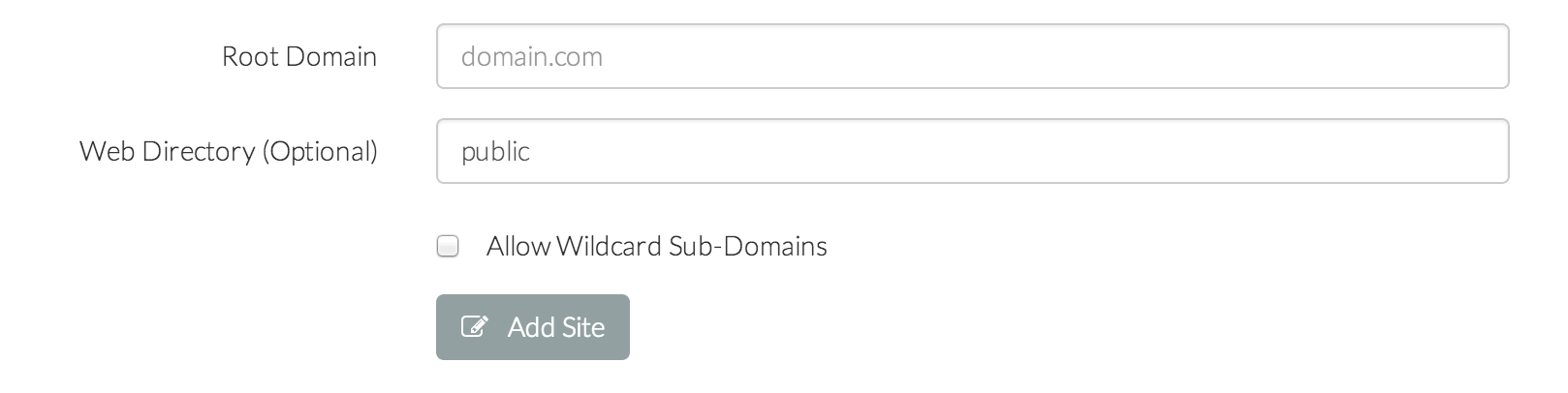 Forge Add Wildcard Subdomain Checkbox