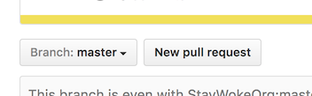 GitHub new pull request button
