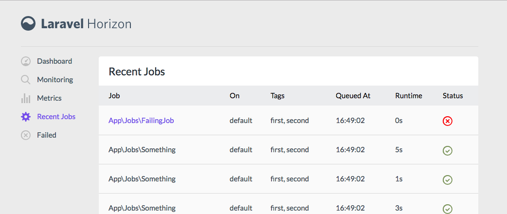 Horizon Recent Jobs Introducing Laravel Horizon - a Dashboard for your Queues - horizon recent jobs - Introducing Laravel Horizon – a Dashboard for your Queues