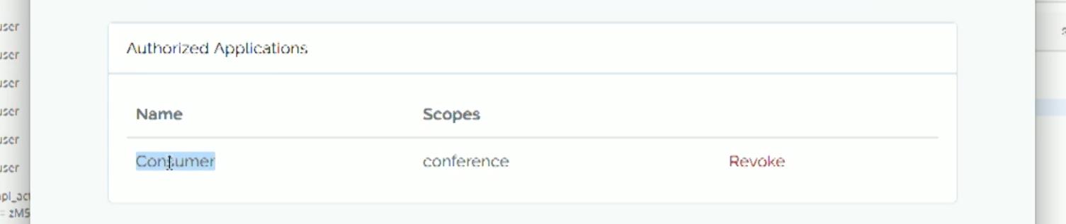 Screenshot of Laravel Passport revoke token view  - laravel passport screenshot revoke client - 5.3 feature announcement notes from Laracon