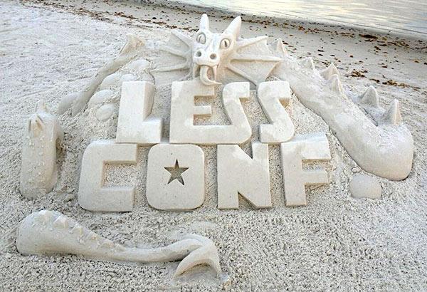 LessConf Sand Sculpture