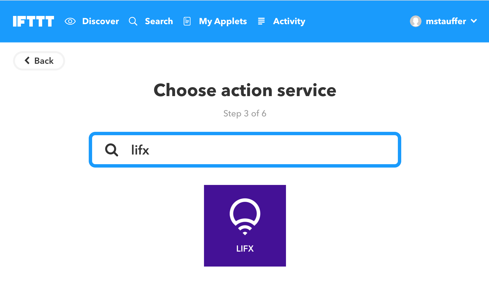 Choosing the LIFX 'that'  - lifx ifttt choose lifx - Controlling LIFX lights with your Laravel (or other PHP) applications
