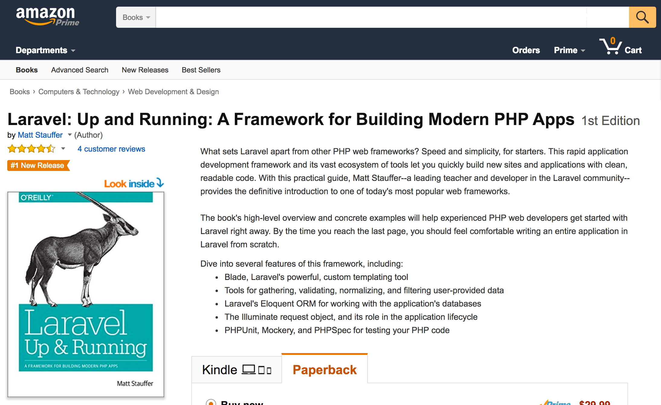 Laravel: Up & Running on Amazon  - lur on amazon - Laravel: Up & Running is launched and available for order!