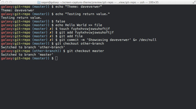 Oh-My-ZSH preview