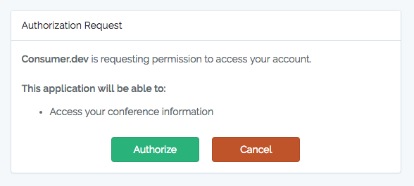Screenshot of Laravel Passport auth approval view  - passport approval view - Introducing Laravel Passport