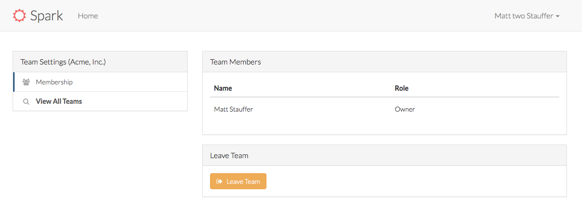 Spark Leave Team
