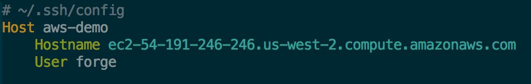 SSH Config settings