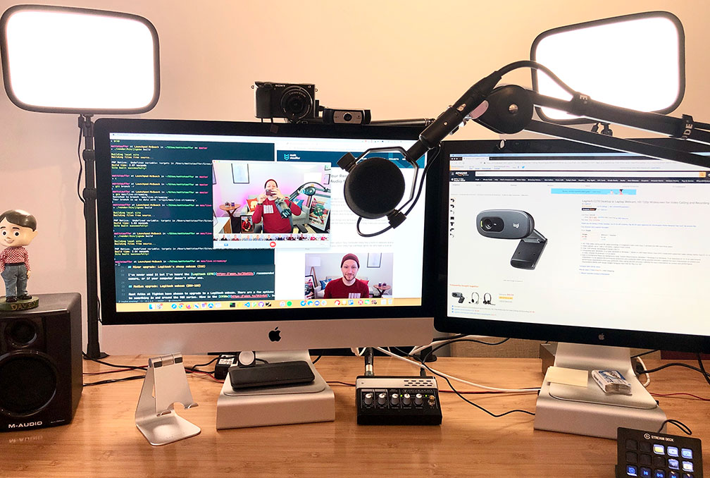 Setting Up Your Webcam Lights And Audio For Remote Work Podcasting Videos And Streaming Mattstauffer Com